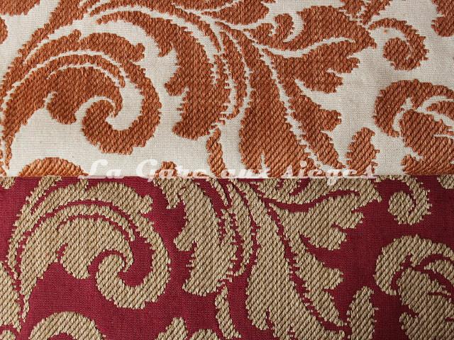 Tissu Chanée Ducrocq - Tatiana - Coloris: 7824 Poterie & 7823 Piment - Voir en grand