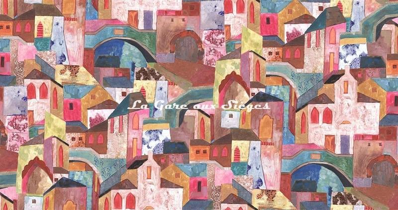 Tissu Rubelli - Burano - réf: 30411.001 Multicolore ( laize ) - Voir en grand