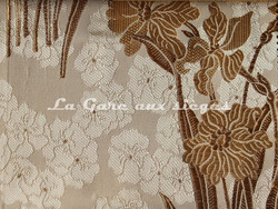 Tissu Verel de Belval - Narcisses - réf: 99102-105 Sable - Voir en grand