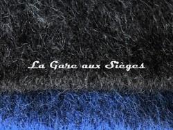 Tissu Pierre Frey - Yéti - réf: 3290 - Coloris: 005 Bagherra & 006 Encre - Voir en grand
