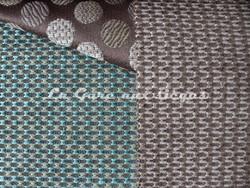 Tissu Deschemaker - Malibu - réf: 103814 Turquoise & 103810 Marron glacé (supprimé) - Voir en grand