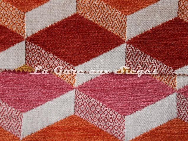 Tissu Casal - Gamma - réf: 16204 - Coloris: 25 Cuivré & 90 Pétales - Voir en grand