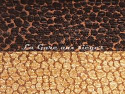 Tissu Chanée Ducrocq - Via Notte - Coloris: 1881 Chataîgne - 2074 Bistre - Voir en grand