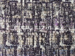 Tissu Osborne & Little - Oakley - réf: F7064-01 Aubergine/Steel