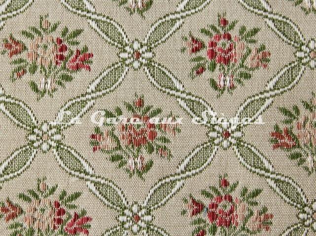 Tissu Chanée Ducrocq - Pauline - réf: 8138 Rose Vert ( détail ) - Voir en grand