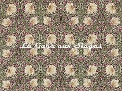 Tissu William Morris - Pimpernel - réf: 224491 Aubergine/Olive - Voir en grand