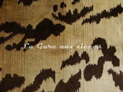 Tissu Nobilis - Velours Tiger - réf: 10496 - Coloris: 10 Cigare - Voir en grand