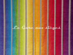 Tissu Boussac - Clara - réf: O7728-002 - Coloris: Arc en ciel - Voir en grand