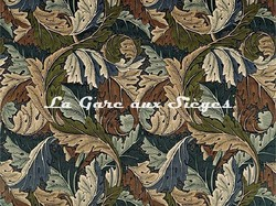 Tissu William Morris - Acanthus - réf: 226401 Slate blue/Thyme - Voir en grand