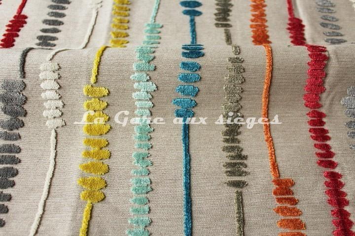 Tissu Deschemaker - Santa Fé - réf: 103869 - Multicolore - Voir en grand