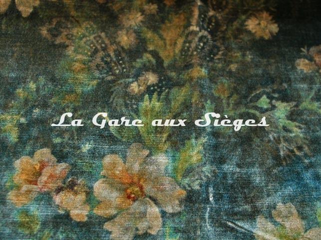 Tissu GP & J.Baker - Queen's Garden Velvet - réf: BP10644.1 Jade ( détail ) - Voir en grand