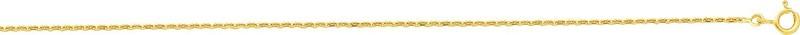 chaine forçat or jaune 18 carats 55 cm 432 ¤ - Voir en grand
