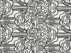 Tissu Pierre Frey - Carnaval - réf: F2991-001 Noir & Blanc - Voir en grand