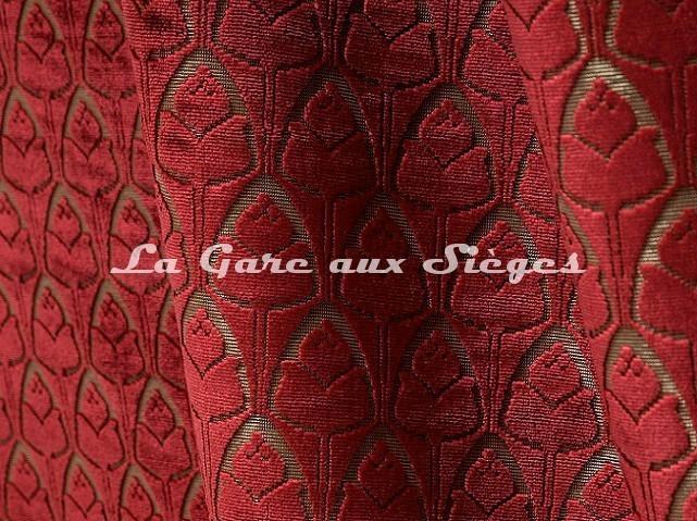 Tissu Tassinari & Châtel - Tulipe - réf: 1695.01 Cornaline - Voir en grand