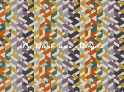 Tissu Camengo - Guatemala - réf: 4272.0590 Orange - Voir en grand