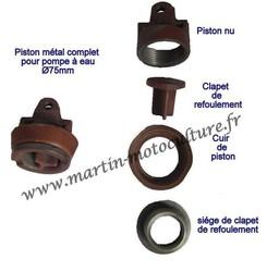 Piston de pompe à eau neuf www.martin-motoculture.fr 52600 COHONS - Voir en grand