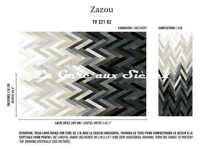 Tissu Elitis - Zazou - réf: TV321.82 ( raccord ) - Voir en grand