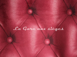 Tissu Deschemaker - Velours Capiton - Coloris: 3106 Flamme - Voir en grand