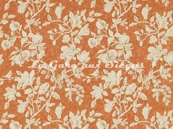 Tissu Sanderson - Magnolia & Pomegranate - réf: 225506 Russet/Wheat - Voir en grand