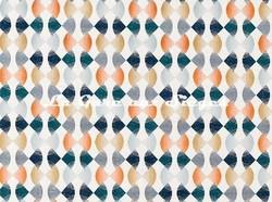 Tissu Harlequin - Maolica - réf: 132880 Paprika/Teal/Ochre