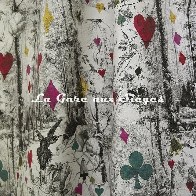 Tissu Jean Paul Gaultier - Tarot - réf: 3489.01 ( suite ) - Voir en grand