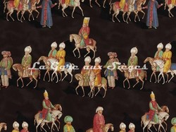 Tissu Pierre Frey - Parade Ottomane - réf: F2128-003 Mica - Voir en grand