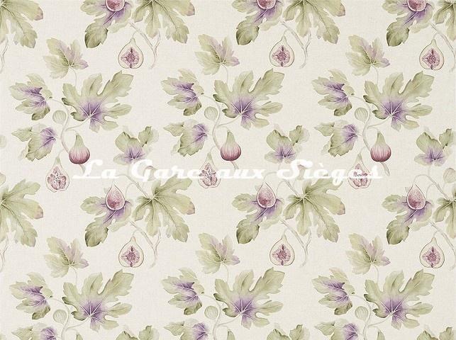 Tissu Sanderson - Fig Harvest - réf: 226328 Wedgwood/Craie - Voir en grand