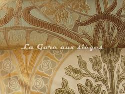 Tissu Verel de Belval - Silènes - réf: 99110 - Coloris: 006 Bronze & 004 Printemps - Voir en grand