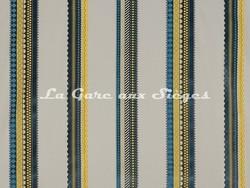 Tissu Osborne & Little - Operetta - réf: F7041-02 Duck egg/Chartreuse/Steel - Voir en grand