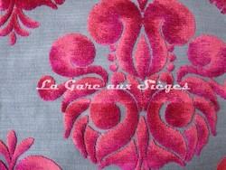 Tissu Casal - Velours Gallièra - réf: 12655 - Coloris: 90 Framboise - Voir en grand