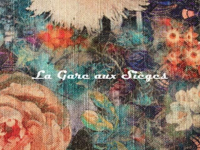 Tissu GP & J.Baker - Royal Garden Linen - réf: BP10643.3 Jewel ( détail ) - Voir en grand