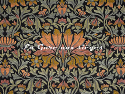 Tissu Casal - Mucha - réf: 16206-450 Orangé Noir - Voir en grand