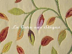 Tissu Chanée Ducrocq - Dickens - réf: 8701 Crème ( détail ) - Voir en grand