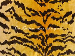 Tissu Nobilis - Velours Tiger - réf: 10496 - Coloris: 35 Curry - Voir en grand