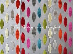 Tissu Deschemaker - Velours Mexico - réf: 103757 - Multicolore - Voir en grand