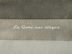 Tissu Métaphores - Shagreen - réf: 71161 - Coloris: 006 Chèvre - 014 Blanc nacré - 001 Papyrus - Voir en grand