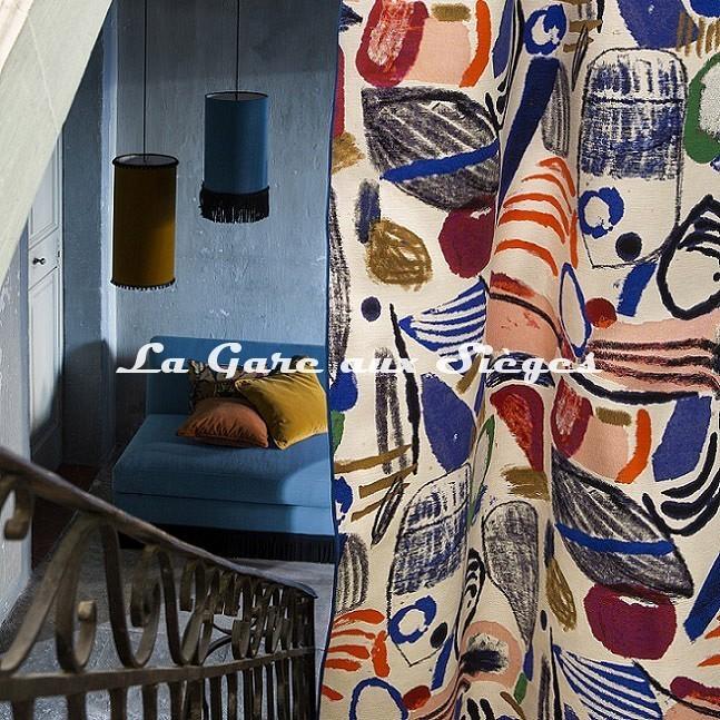 Tissu Pierre Frey - La Toile du Peintre ( rideaux ) - Voir en grand