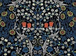 Tissu House of Hackney - Velours Blacktorn - réf: 8769 Teal - Voir en grand