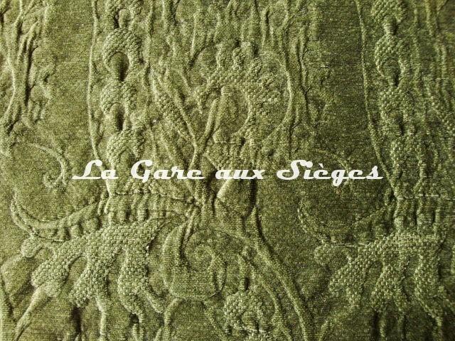 Tissu Dominique Kieffer - Damas - réf: 17116 - Coloris: 04 Kaki - Voir en grand