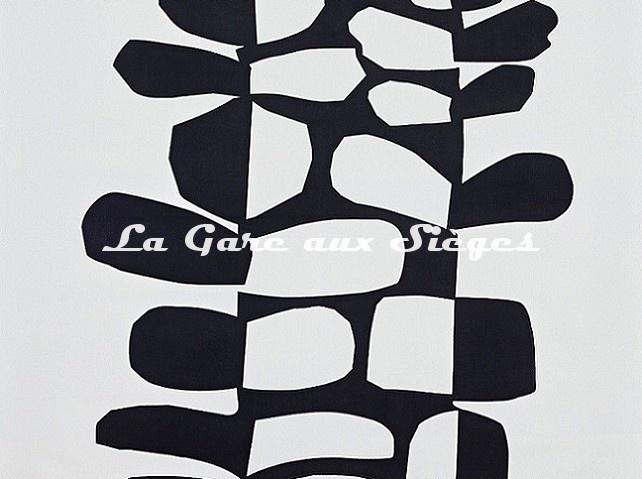 Tissu Pierre Frey - Surprise - réf: F3485.001 Noir et Blanc - Voir en grand