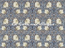 Tissu William Morris - Pimpernel - réf: 224494 Indigo/Hemp - Voir en grand