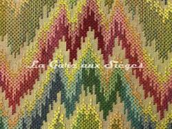 Tissu Chanée Ducrocq - Poitou - réf: 8342 Multicolore ( détail ) - Voir en grand