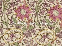 Tissu William Morris - Pink & Rose - réf: 222529 Manilla/Wine ( détail ) - Voir en grand