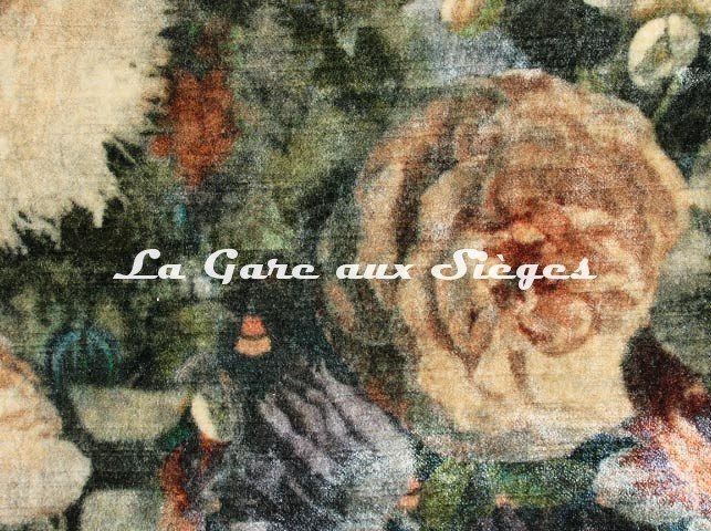 Tissu GP & J.Baker - Royal Garden Velvet - réf: BP10642.1 Quartz ( détail ) - Voir en grand
