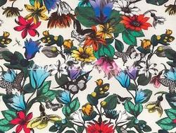 Tissu Osborne & Little - Tulipan - réf: F6743-01 Multi/Ivory - Voir en grand
