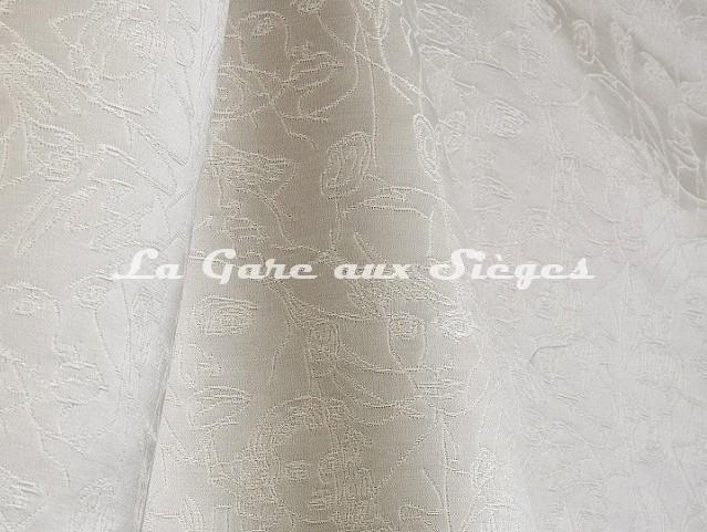 Tissu Jean Paul Gaultier - Regard - réf: 3471-02 Ecru - Voir en grand