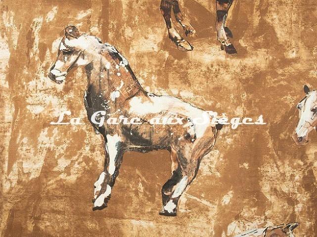 Tissu Donghia - Horses - réf: 10357.008 Camel ( détail ) - Voir en grand