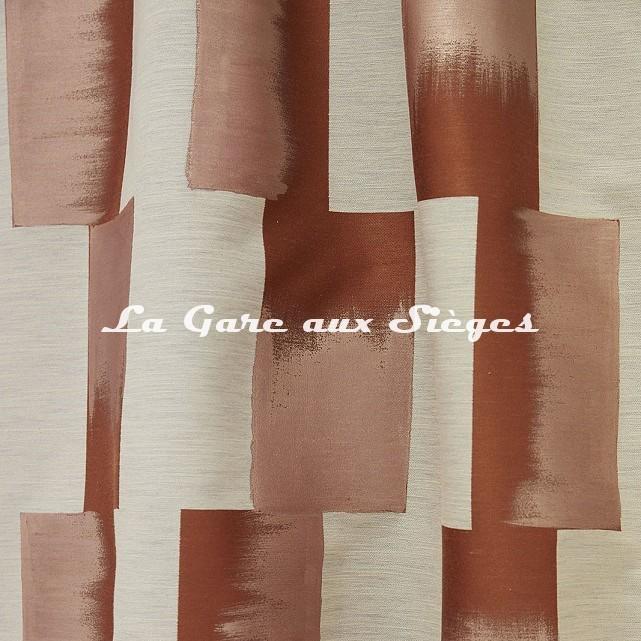 Tissu Lelièvre - Lhassa - réf: 628.01 Cuivre - Voir en grand