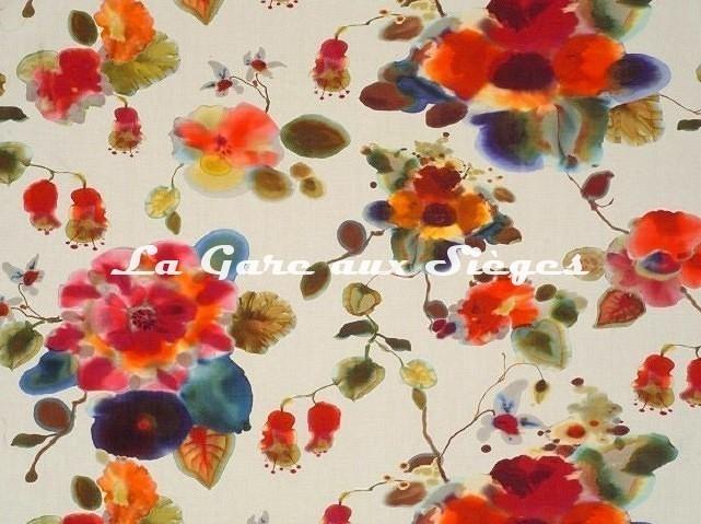 Tissu Rubelli - Cap d'Antibes - réf: 07576.002 Multicolore - Voir en grand