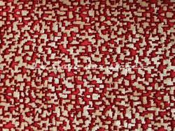 Tissu Nobilis - Velours Pixels - réf: 10563-50 - Coloris: Rouge opéra